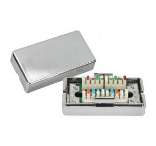 BOX DI GIUNZIONE IN METALLO CAT.5 SILVER (NW-MBJS5-SL) - PIANURA Informatica