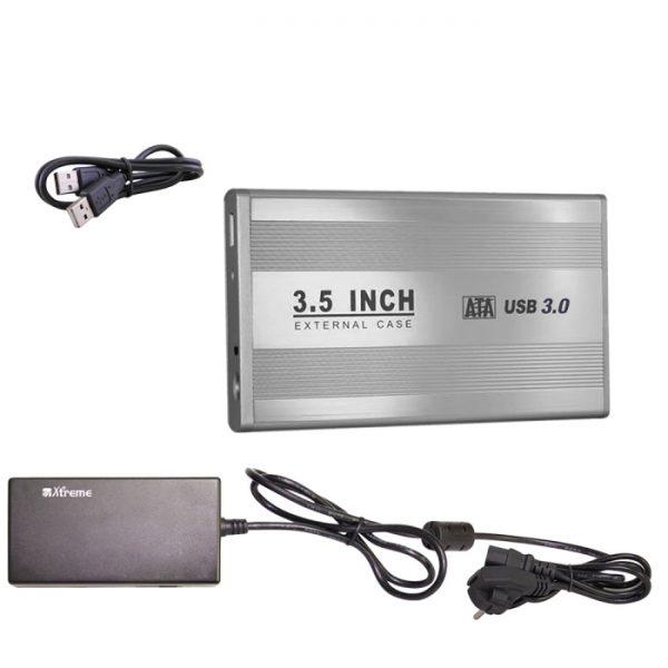"""BOX ESTERNO 3.5"""" (29015) SATA USB 3.0 SILVER - PIANURA Informatica"""