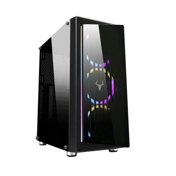 CASE GAMING OPTOIX ITGCAO45 - NO ALIMENTATORE - NERO - PIANURA Informatica
