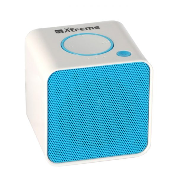 CASSA MINI SPEAKER WIRELESS PORTATILE BLUETOOTH BIANCO/BLU - PIANURA Informatica