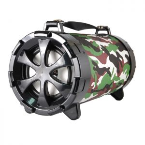 CASSA MINI SPEAKER WIRELESS PORTATILE BLUETOOTH BOOM BOX CAMOUFLAGE NERA - PIANURA Informatica