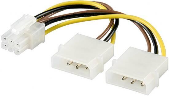 CAVO SDOPPIATORE ALIMENTAZIONE MOLEX A 6PIN PER SK VIDEO PCI-E (AKPCIP6) - PIANURA Informatica