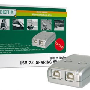 DATA SWITCH ELETTRONICO 2 PC CON UNA PERIF. USB 2.0 (DA70135) - PIANURA Informatica