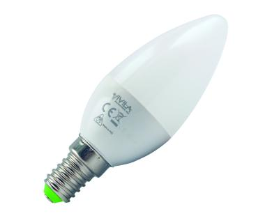 LAMPADA LED CANDELA E14 5W LUCE CALDA (795430) - PIANURA Informatica
