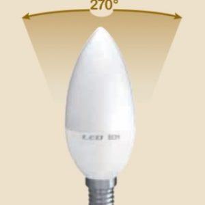 LAMPADA LED CANDELA E14 6W FREDDA 6500K (E2553F) - PIANURA Informatica