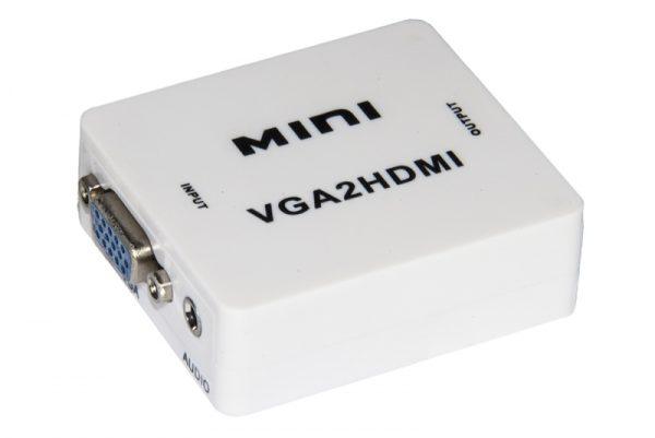MINI CONVERTITORE VGA-HDMI CON AUDIO (LKCONV06) - PIANURA Informatica