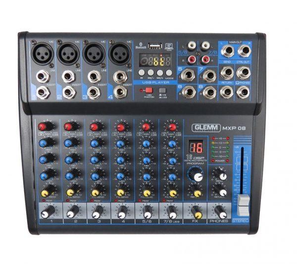 MIXER MXP 08 MICROFONICO PER DJ - PIANURA Informatica