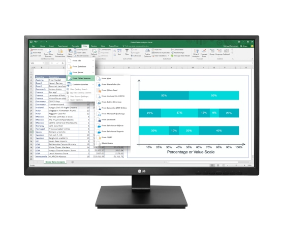"MONITOR 24"" 24BK550Y-B LED MULTIMEDIALE FULL HD (24BK550Y-B.AEU) - PIANURA Informatica"