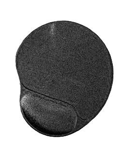 MOUSE PAD GEL CON POGGIA POLSO NERO (MP-GEL-BLACK) - PIANURA Informatica