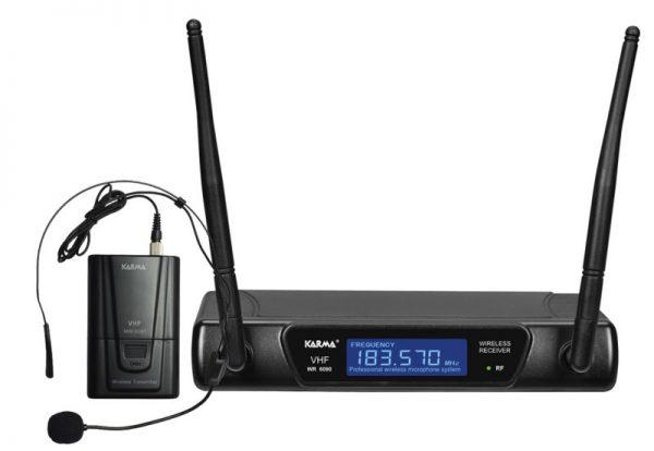 RADIOMICROFONO AD ARCHETTO VHF (SET 6090LAV-B) - PIANURA Informatica