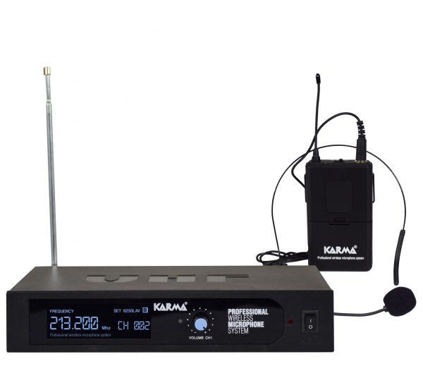 RADIOMICROFONO AD ARCHETTO VHF (SET 6250LAV-B) - PIANURA Informatica