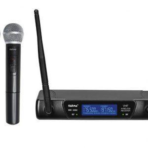 RADIOMICROFONO DOPPIO PALMARE VHF (SET 6092A) 175.50/197.15 MHZ - PIANURA Informatica