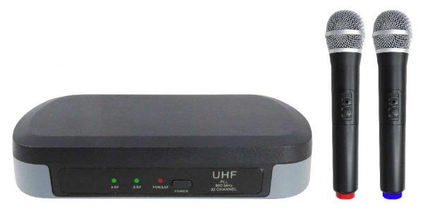 RADIOMICROFONO PALMARE DOPPIO UHF (SET 7302) - PIANURA Informatica