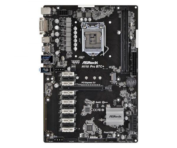 SCHEDA MADRE H110 PRO BTC+ (90-MXB5S0-A0UAYZ) SK1151 - PIANURA Informatica