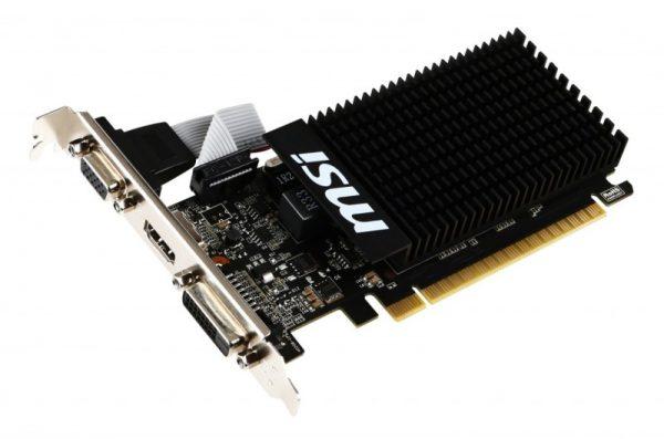 SCHEDA VIDEO GEFORCE GT710 2 GB PCI-E 2GD3H LP (V809-2000R) - PIANURA Informatica