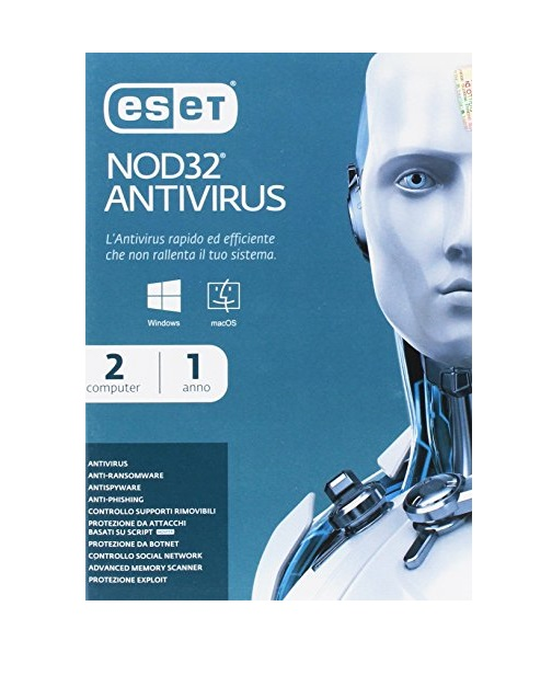 SOFTWARE NOD32 ANTIVIRUS 4 2 USER (98102) - PIANURA Informatica