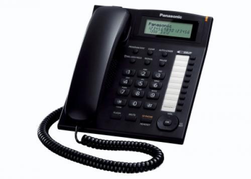 TELEFONO FISSO KX-TS880EXB NERO - PIANURA Informatica