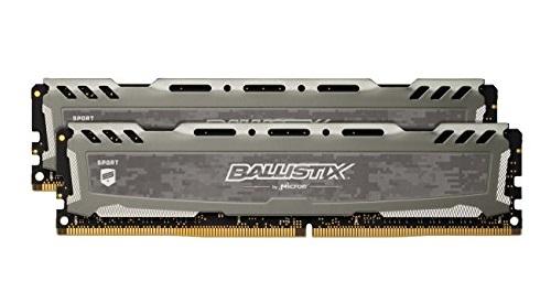 MEMORIA DDR4 16 GB BALLISTIX SPORT LT PC2666 MHZ (2X8) (BLS2C8G4D26BFSBK) - PIANURA Informatica
