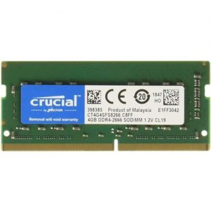 MEMORIA SO-DDR4 4 GB PC2666 (1X4) (CT4G4SFS8266) - PIANURA Informatica