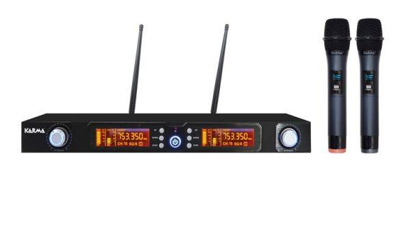 RADIOMICROFONO DOPPIO PALMARE UHF (SET 7822) DOPPIO 740/790 MHZ - PIANURA Informatica