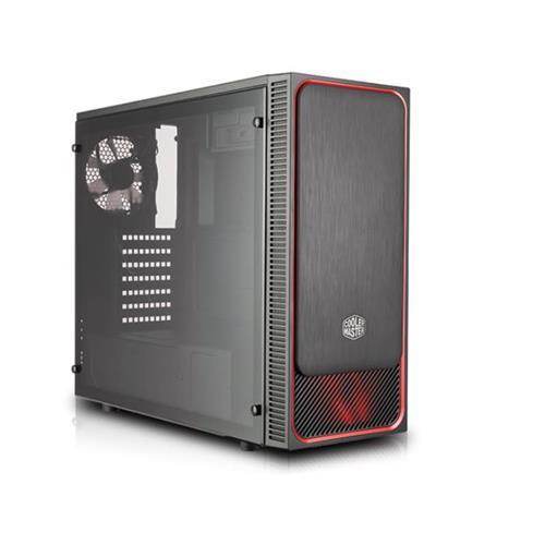 CASE MASTERBOX E500L LED ROSSO (MCB-E500L-KA5N-S01) NO ALIMENTATORE - PIANURA Informatica