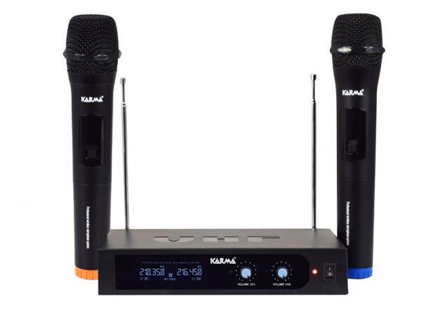 RADIOMICROFONO DOPPIO PALMARE VHF (SET 6252A) - PIANURA Informatica