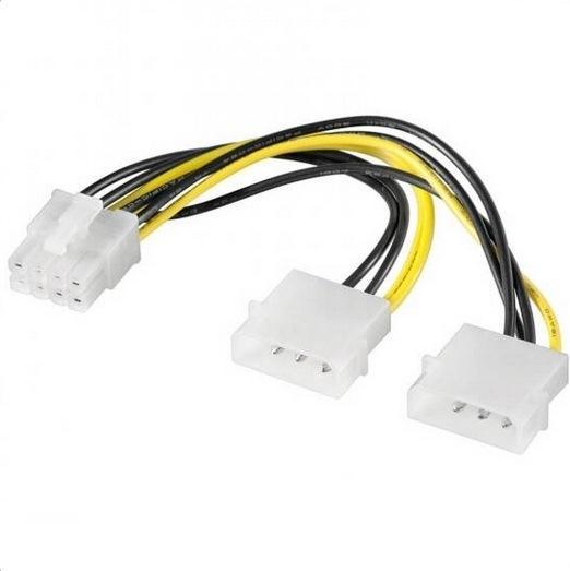 CAVO PROLUNGA ALIMENTAZIONE MOLEX A 8 PIN PCI-E (E10058) - PIANURA Informatica