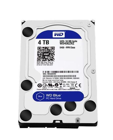 "HARD DISK BLUE 4 TB SATA 3 3.5"" (WD40EZRZ) - PIANURA Informatica"