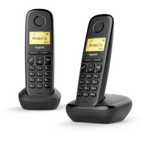 TELEFONO CORDLESS GIGASET A170 DUO NERO (L36852-H2802-K101) - PIANURA Informatica
