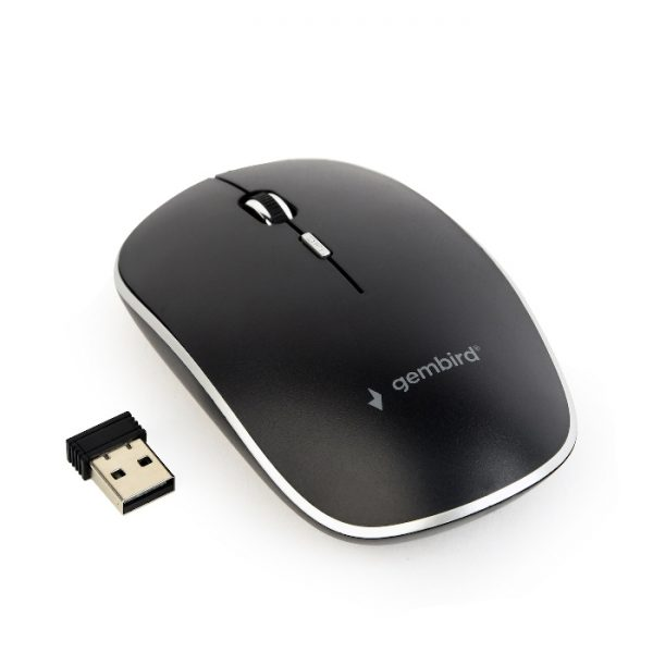 MOUSE WIRELESS NERO (MUSW-4B-01) - PIANURA Informatica