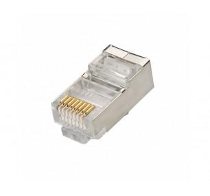 PLUG DI RETE RJ45 8P CAT.6 FTP CONF. 50PZ (CV-LAN-026) - PIANURA Informatica