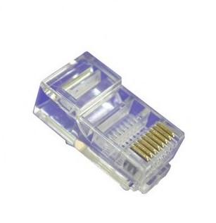 PLUG RETE RJ45 8P CONF. 100PZ (CV-LAN-028) - PIANURA Informatica