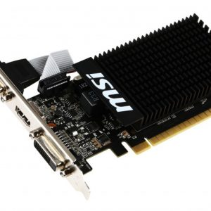 SCHEDA VIDEO GEFORCE GT710 1 GB PCI-E 1GD3H LP (V809-1899R) - PIANURA Informatica
