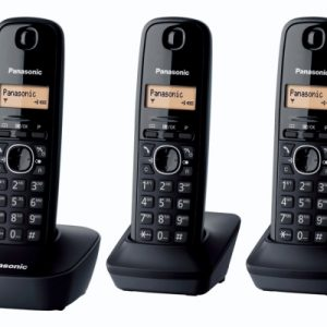 TELEFONO CORDLESS TRIO KX-TG1613JTH NERO - PIANURA Informatica