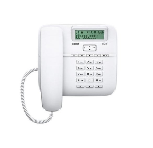 TELEFONO FISSO GIGASET DA610 BIANCO - PIANURA Informatica