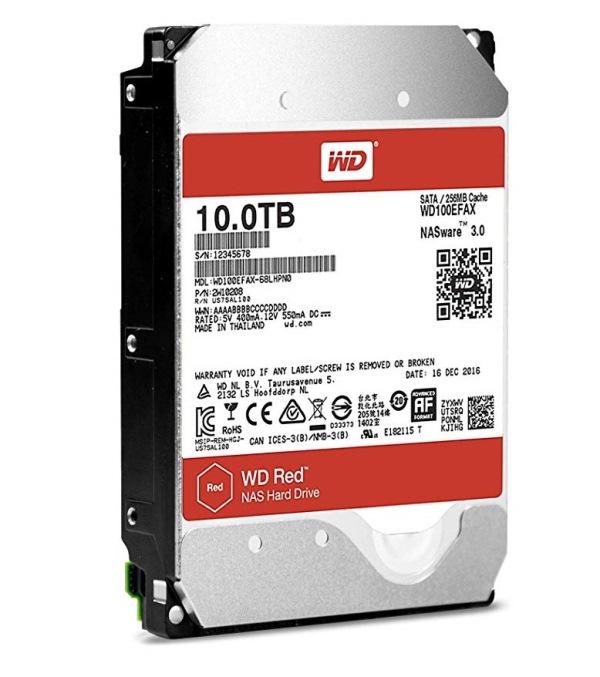 """HARD DISK RED 10 TB SATA 3 3.5"""" NASWARE (WD100EFAX) - PIANURA Informatica"""