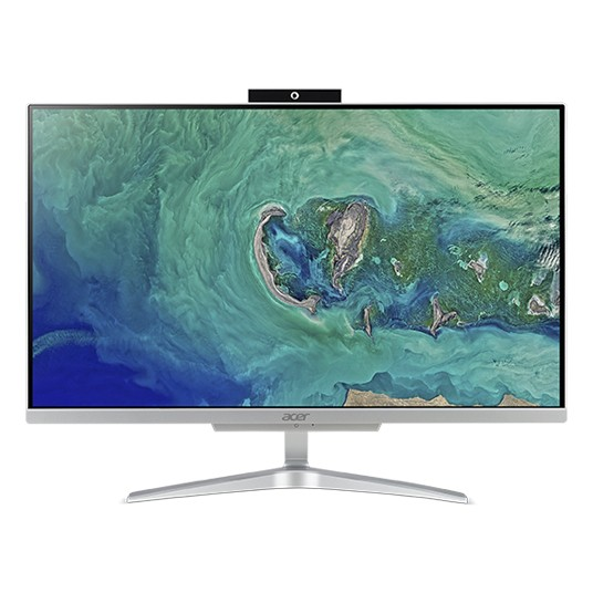 """PC LCD 23.8"""" ASPIRE C24-865 AIO SILVER WINDOWS 10 HOME (DQ.BBUET.003) - PIANURA Informatica"""