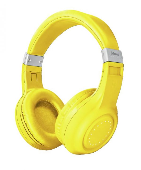 CUFFIA MICROFONO DURA NEON YELLOW GIALLA BLUETOOTH WIRELESS (22767) - PIANURA Informatica