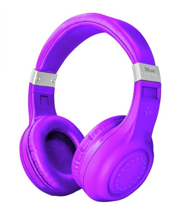 CUFFIA MICROFONO DURA PURPLE VIOLA BLUETOOTH WIRELESS (22764) - PIANURA Informatica