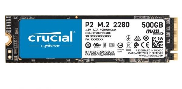 HARD DISK SSD 500GB P2 M.2 NVME (CT500P2SSD8) - PIANURA Informatica