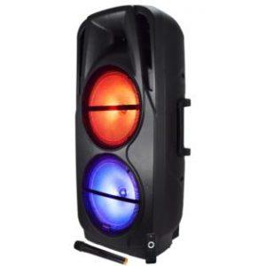 CASSA AUDIO AMPLIFICATO HPSB 212 1000 WATT CON RADIOMICROFONO - PIANURA Informatica