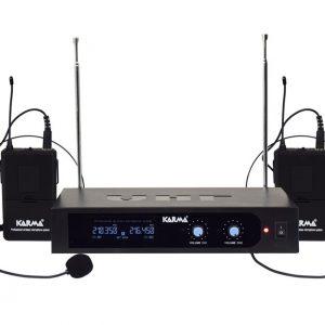 DOPPIO RADIOMICROFONO AD ARCHETTO VHF SET 6252LAV-A (210