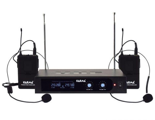 DOPPIO RADIOMICROFONO AD ARCHETTO VHF SET 6252LAV-B (213