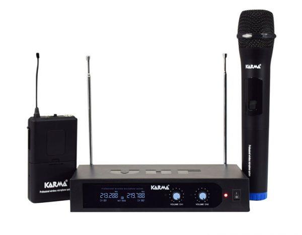 RADIOMICROFONO VHF PALMARE + ARCHETTO (SET 6252PL-B) - PIANURA Informatica