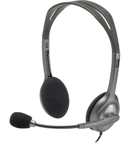 CUFFIE HEADSET H111 (981-000593) - PIANURA Informatica