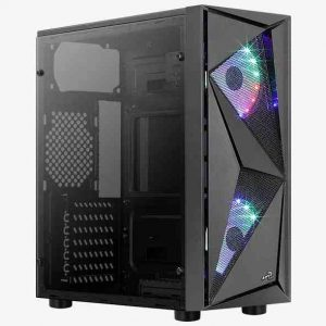 CASE GAMING GLIDER COSMO-A-BK-V2 2XF (AEROPGSGLIDER-2RGB-A) - PIANURA Informatica