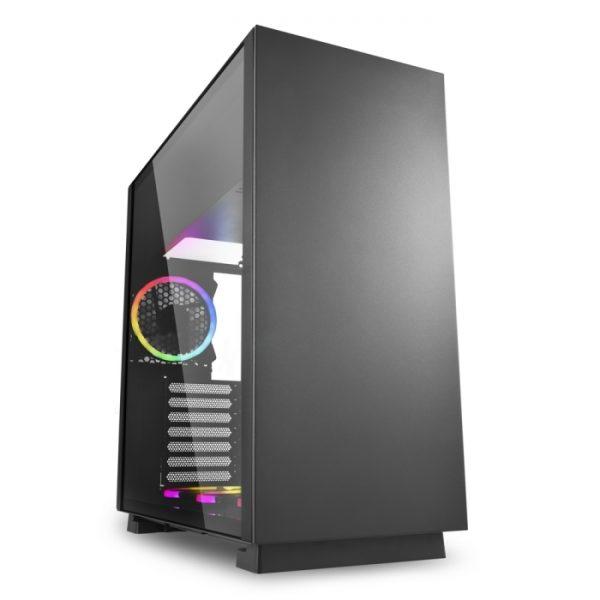 CASE PURE STEEL BLACK RGB ATX VETRO TEMPERATO - NERO - PIANURA Informatica