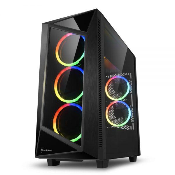 CASE REV200 RGB ATX VETRO TEMPERATO - PIANURA Informatica