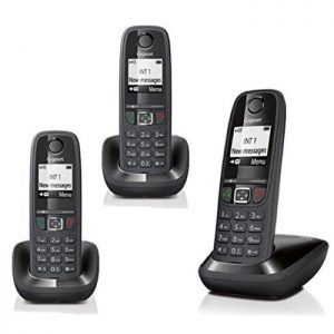 TELEFONO CORDLESS GIGASET AS405 TRIO NERO (AS405TRIO) - PIANURA Informatica